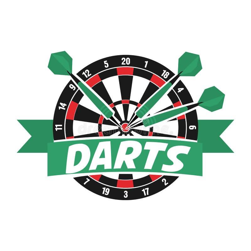 Etichetta dei dardi Logo del distintivo Dardi che mettono in mostra i simboli illustrazione di stock