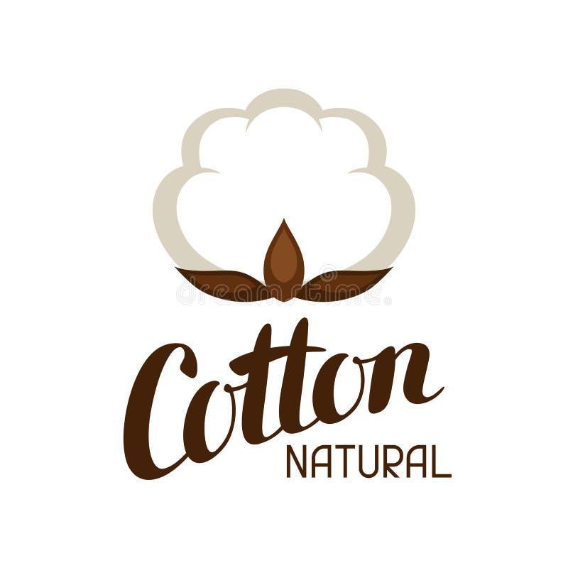 Etichetta del cotone Emblema per abbigliamento e produzione royalty illustrazione gratis