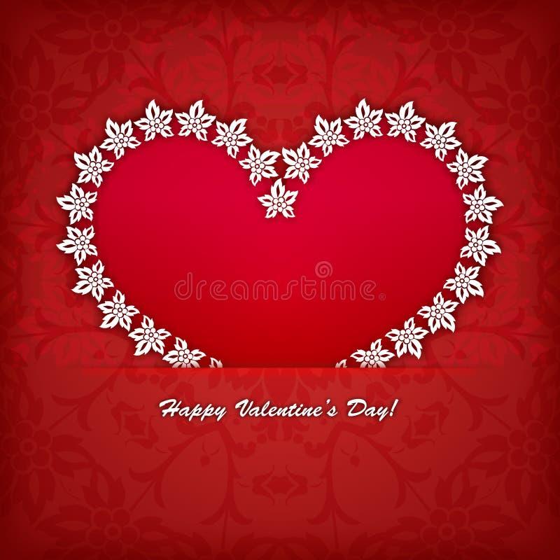 Etichetta del cuore dal vettore di carta della carta di giorno di biglietti di S. Valentino illustrazione di stock