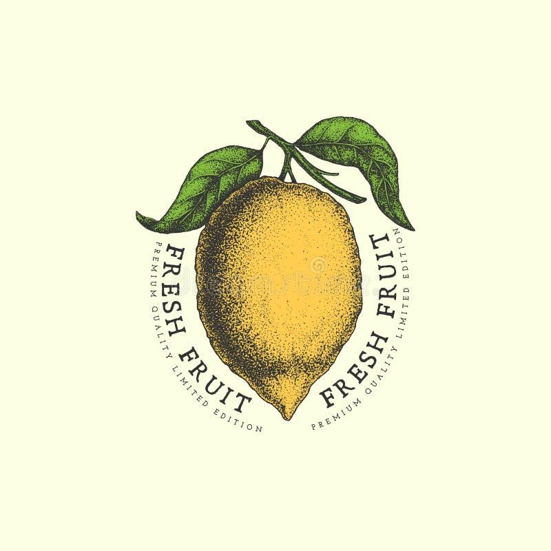Etichetta del limone royalty illustrazione gratis