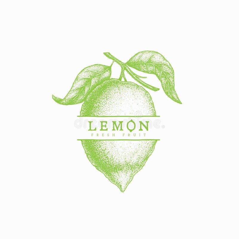 Etichetta del limone illustrazione vettoriale