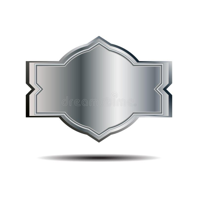 Etichetta del metallo, illustrazione fotografia stock