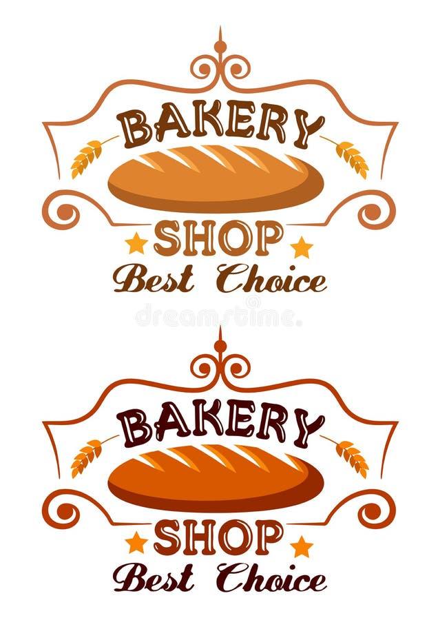 Etichetta del negozio del forno illustrazione vettoriale