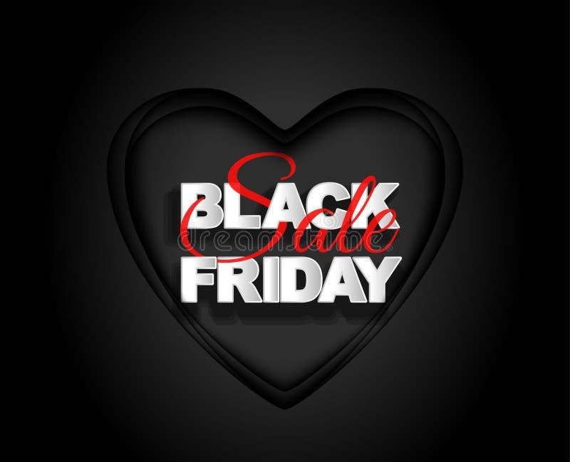 Etichetta del nero di vendita di Black Friday, insegna rotonda, pubblicità, illustrazione illustrazione di stock