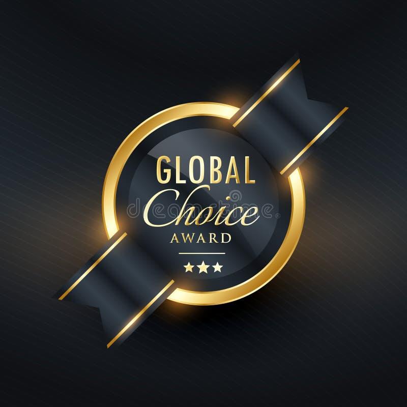 Etichetta del premio e progettazione choice globali del distintivo illustrazione vettoriale