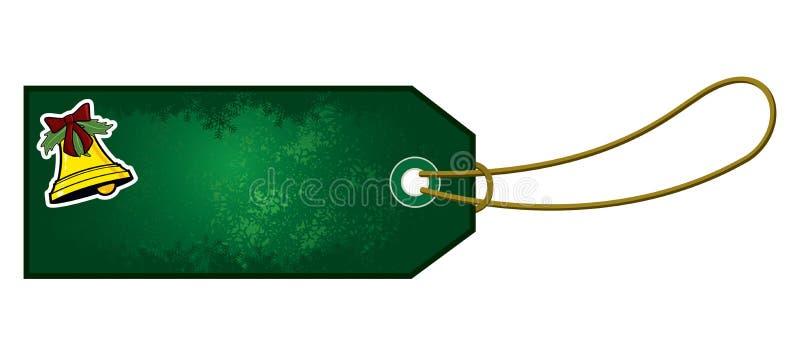 Etichetta del regalo di Bell di Natale royalty illustrazione gratis