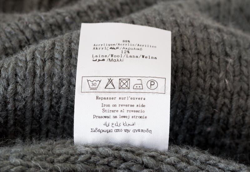Etichetta dell'abbigliamento immagine stock libera da diritti