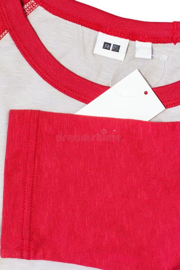 etichetta dell'abbigliamento fotografia stock