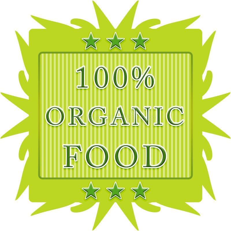etichetta 100% dell'alimento biologico royalty illustrazione gratis