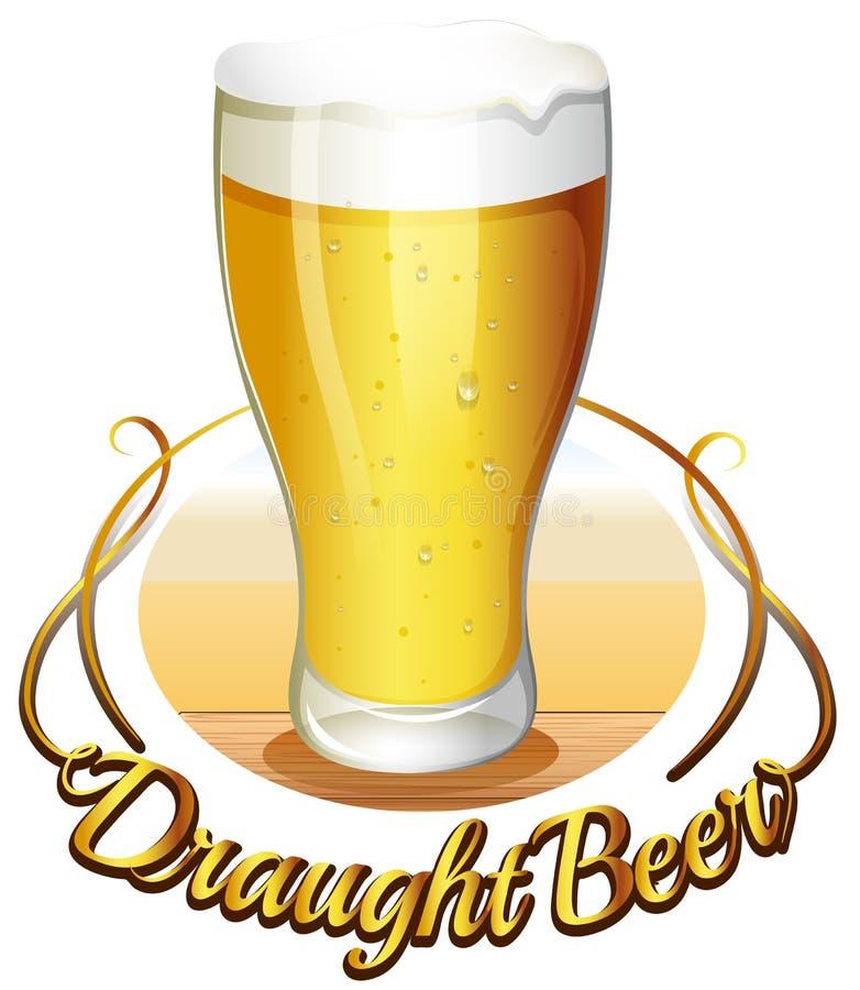 Etichetta della birra alla spina royalty illustrazione gratis