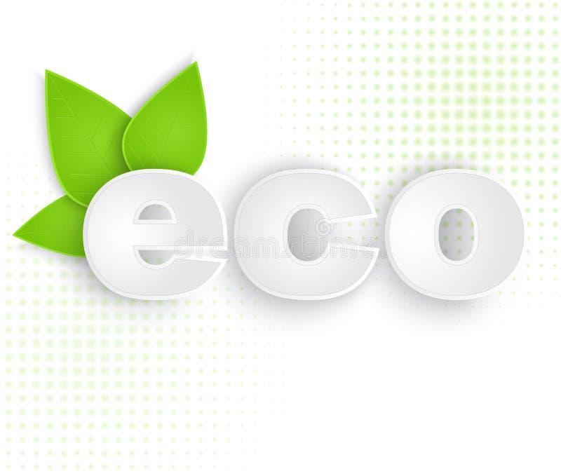 Etichetta di Eco illustrazione vettoriale