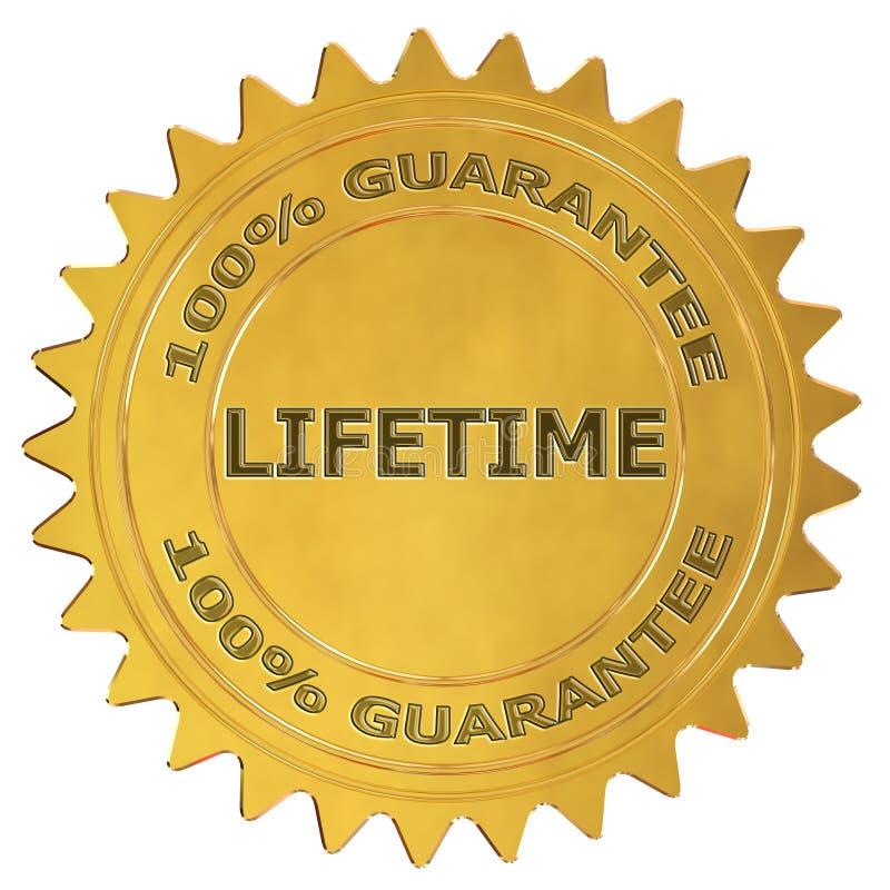 Etichetta di garanzia di vita royalty illustrazione gratis