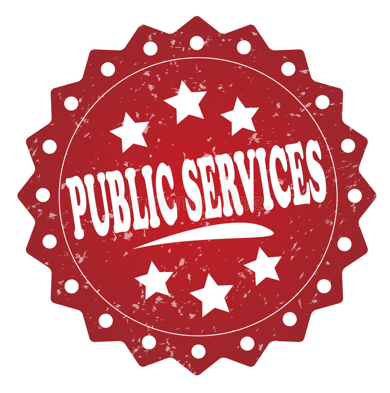 Etichetta di lerciume di servizi pubblici, autoadesivo illustrazione vettoriale