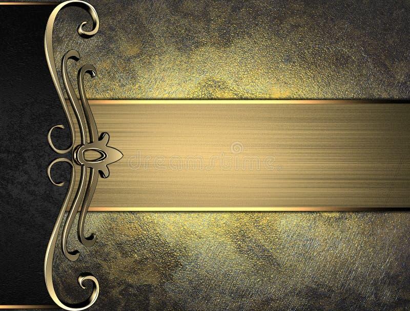 Etichetta di lerciume per testo con la decorazione elegante Mascherina per il disegno copi lo spazio per l'opuscolo dell'annuncio illustrazione di stock