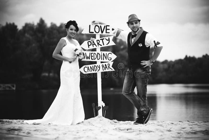 Etichetta di nozze fotografia stock libera da diritti