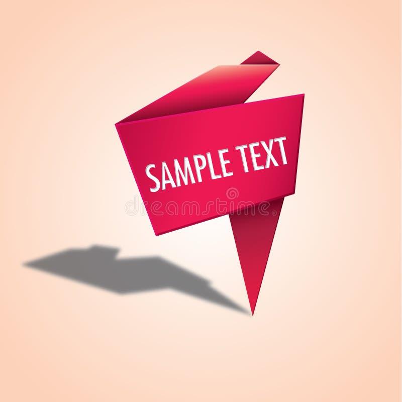Etichetta di origami royalty illustrazione gratis