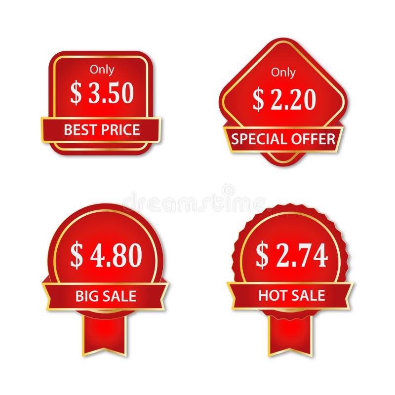 Etichetta di prezzi del vettore di sconto royalty illustrazione gratis