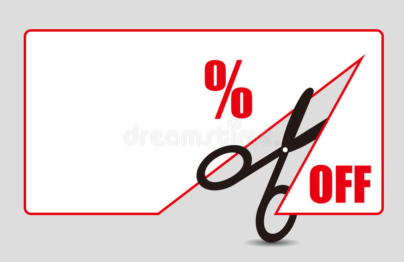 Etichetta di prezzo di sconto illustrazione vettoriale