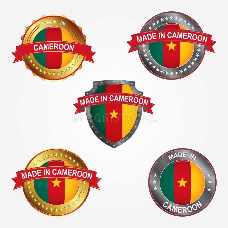 Etichetta di progettazione del fatto di nel Camerun Illustrazione di vettore illustrazione vettoriale