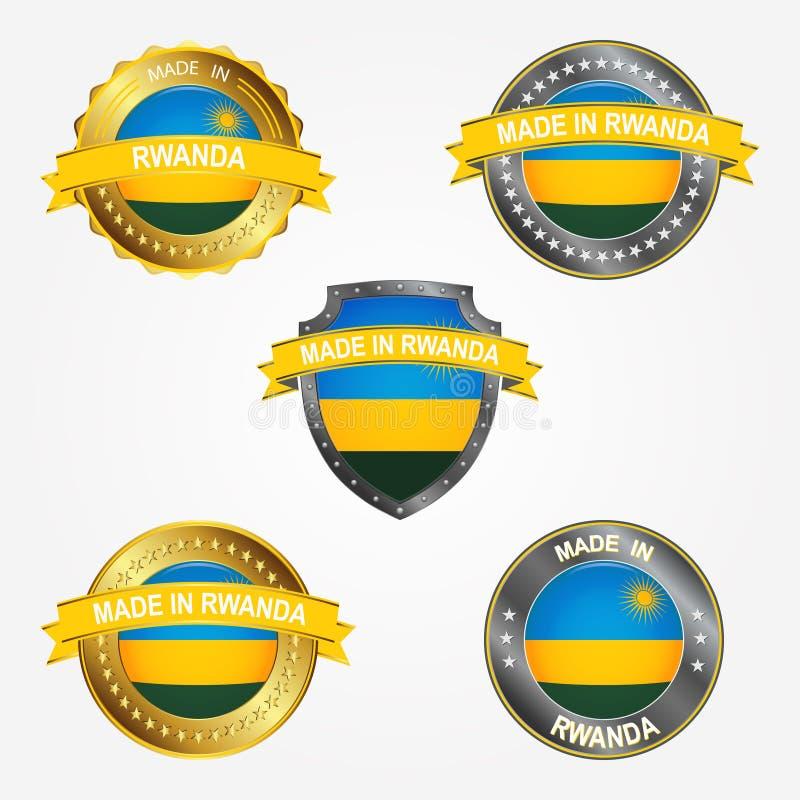 Etichetta di progettazione del fatto di nel Ruanda Illustrazione di vettore illustrazione vettoriale