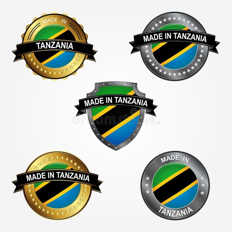 Etichetta di progettazione del fatto di in Tanzania Illustrazione di vettore illustrazione di stock