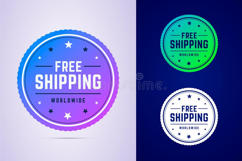 Etichetta di spedizione libera per una consegna veloce immagini stock libere da diritti