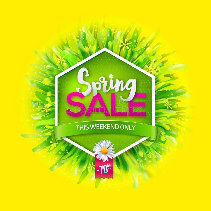 Etichetta di vendita della primavera illustrazione vettoriale