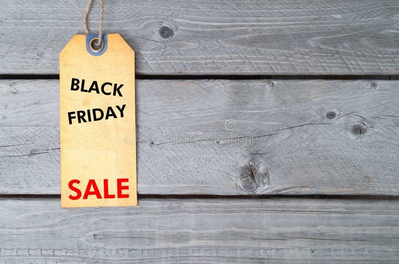 Etichetta di vendita di Black Friday immagine stock libera da diritti