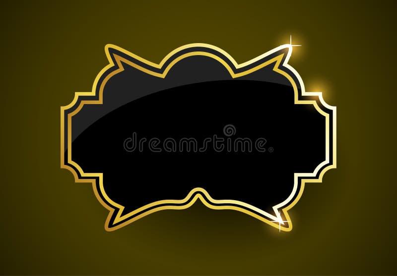 Etichetta dorata royalty illustrazione gratis