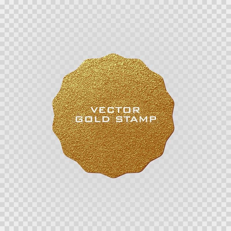 Etichetta dorata di qualità premio Segno dell'oro Distintivo brillante e di lusso Migliore scelta, prezzo illustrazione vettoriale