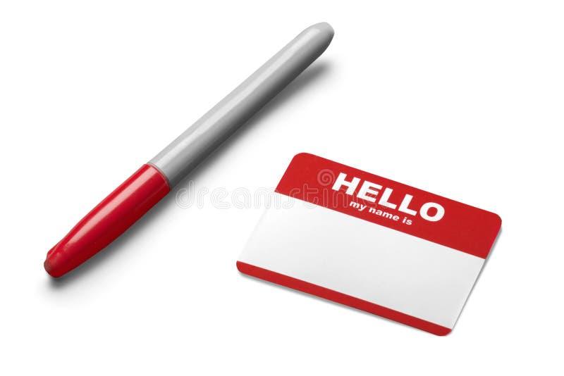 Download Etichetta Ed Indicatore In Bianco Di Nome Immagine Stock - Immagine di isolato, riunione: 117980061