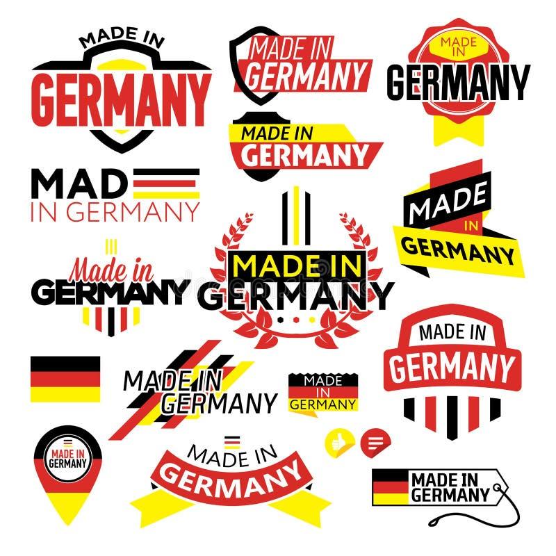 Etichetta fatta in Germania royalty illustrazione gratis