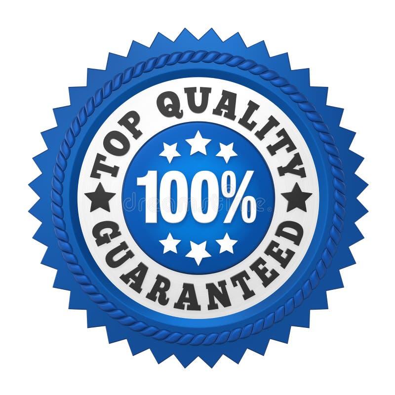 Etichetta garantita qualità superiore isolata illustrazione di stock