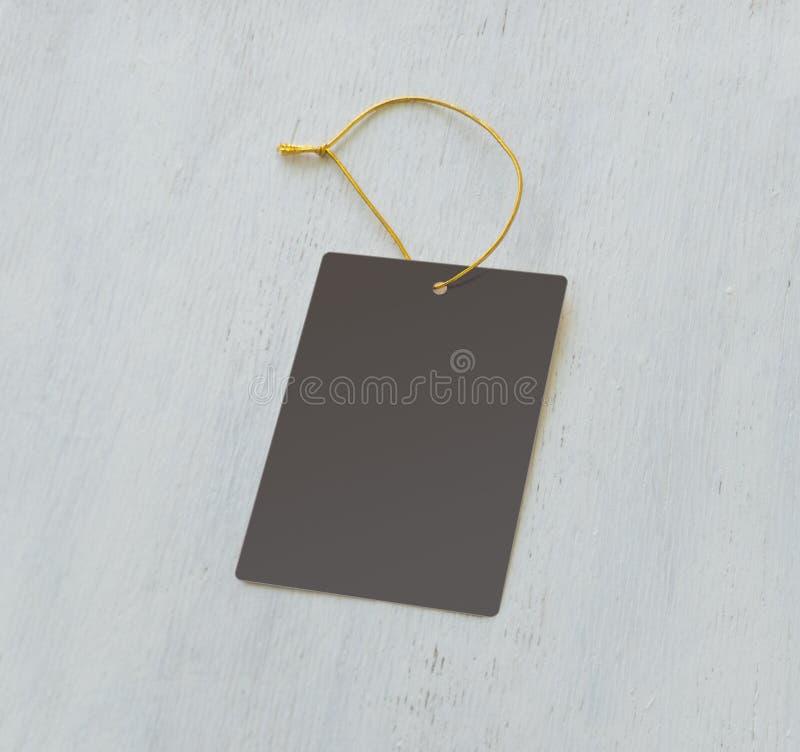 Etichetta grigia vuota fotografia stock