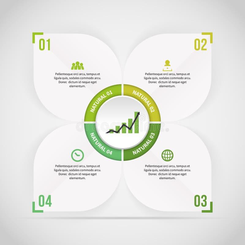 Etichetta Infographic di tema della natura illustrazione di stock