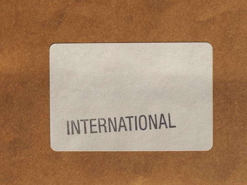 etichetta internazionale della posta aerea immagini stock
