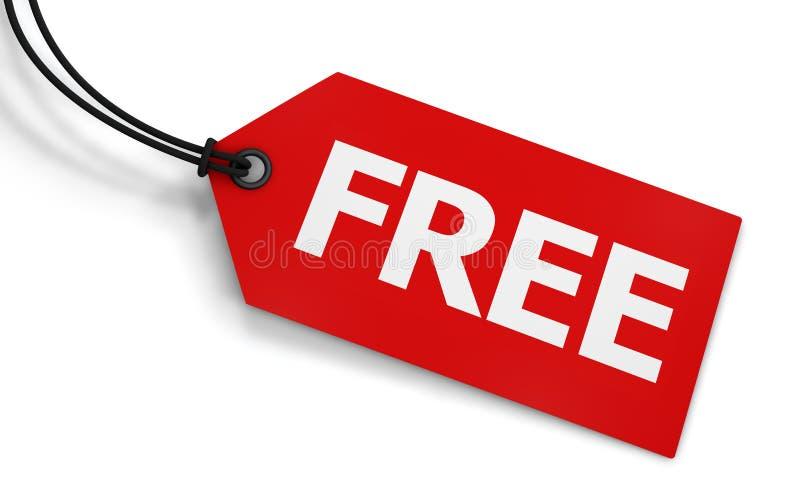 Etichetta libera del prezzo da pagare fotografie stock libere da diritti