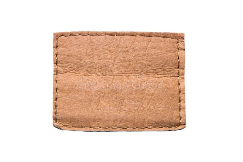 Etichetta marrone di cuoio vuota immagine stock libera da diritti
