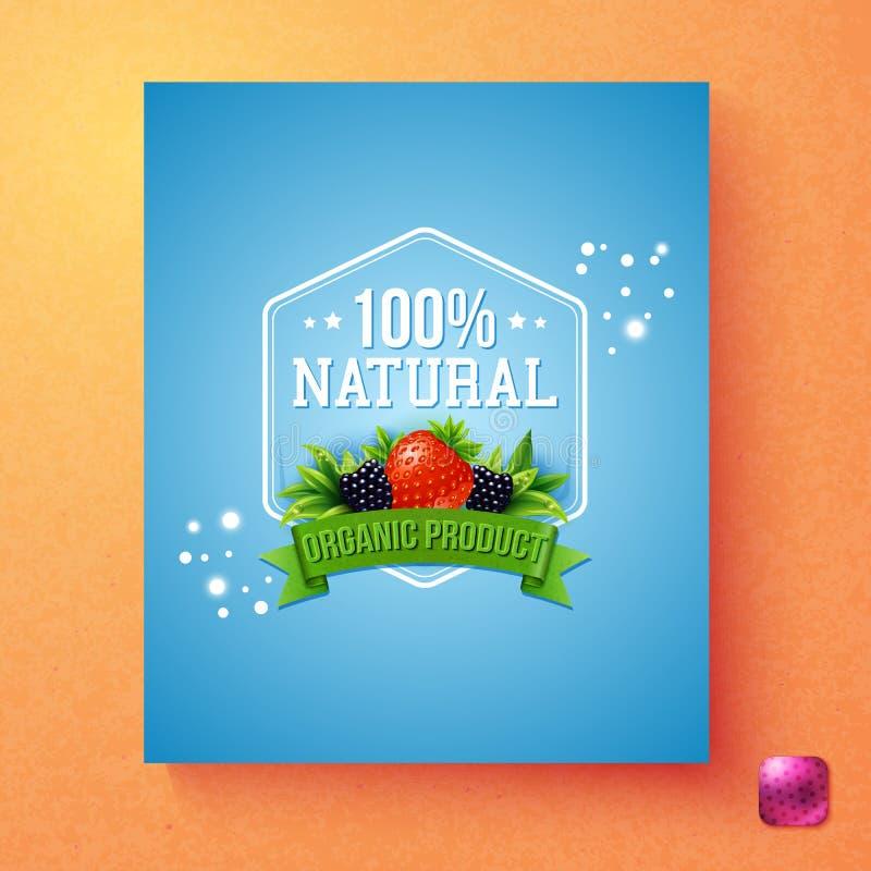 Etichetta naturale del prodotto biologico di cento per cento royalty illustrazione gratis