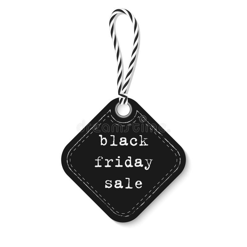 Etichetta nera di vendita di venerdì royalty illustrazione gratis