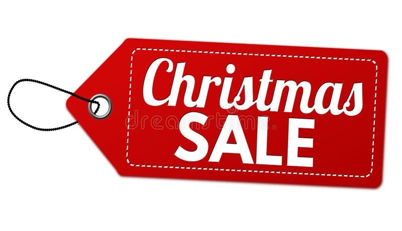 Etichetta o prezzo da pagare di vendita di Natale royalty illustrazione gratis