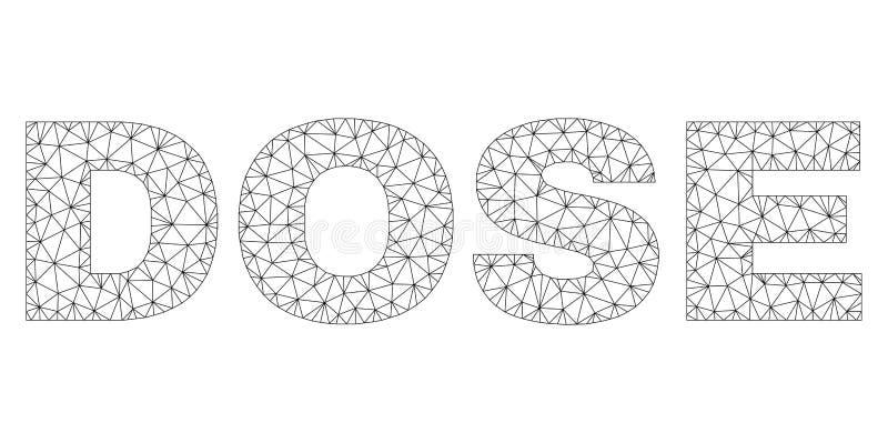 Etichetta poligonale del testo della DOSE della rete illustrazione di stock
