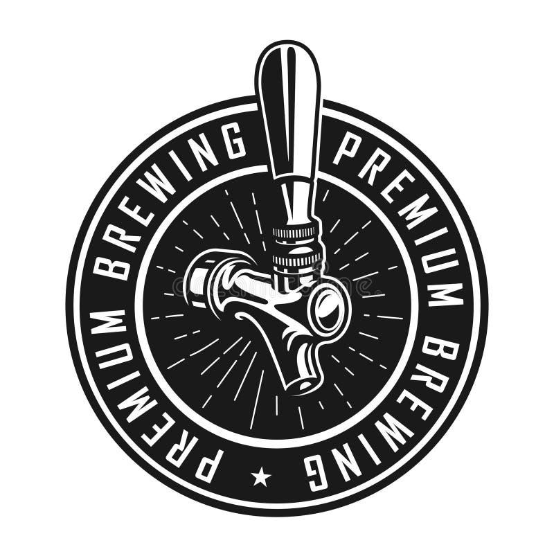 Etichetta premio d'annata della fabbrica di birra illustrazione vettoriale