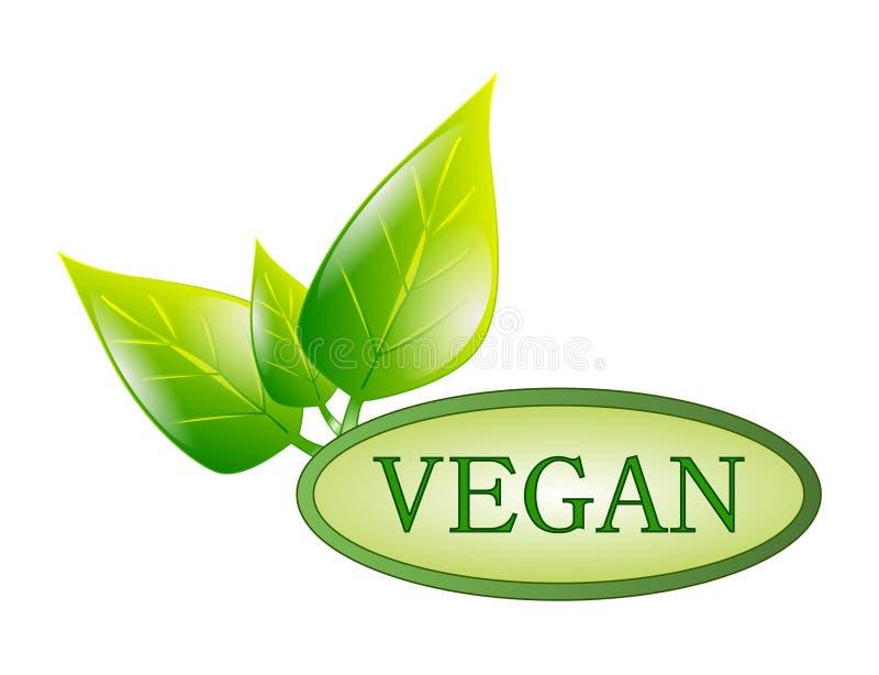 Etichetta verde del vegano illustrazione vettoriale