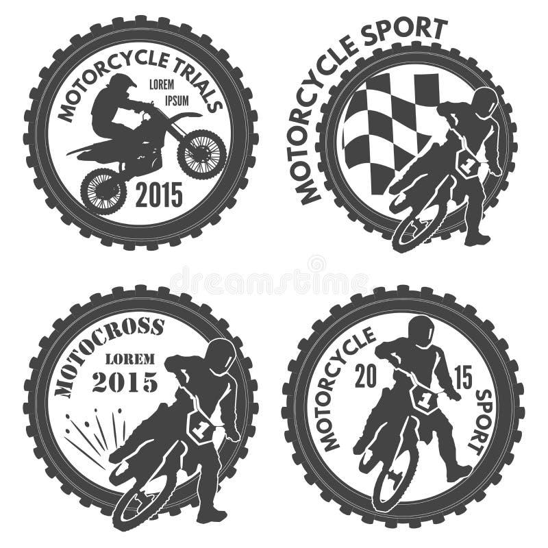 Etichette dei motociclismi immagine stock