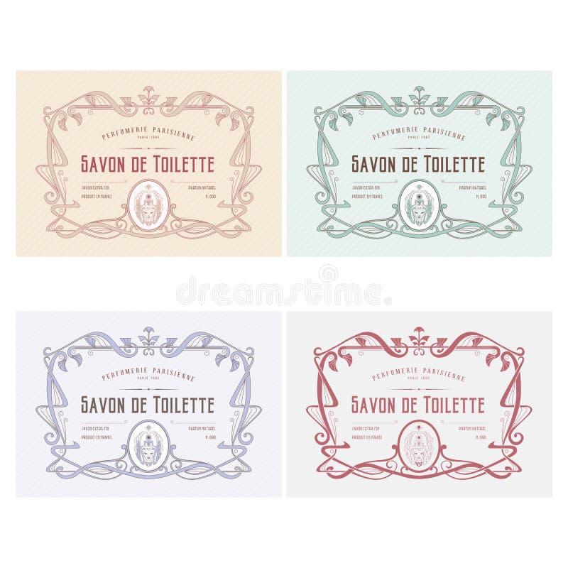 Etichette del prodotto di Skincare illustrazione di stock