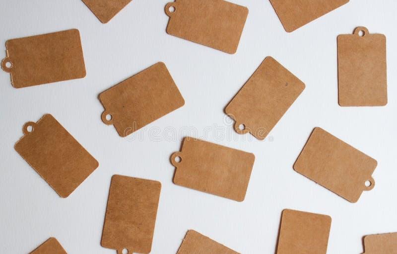 Etichette del regalo di Kraft fotografie stock libere da diritti