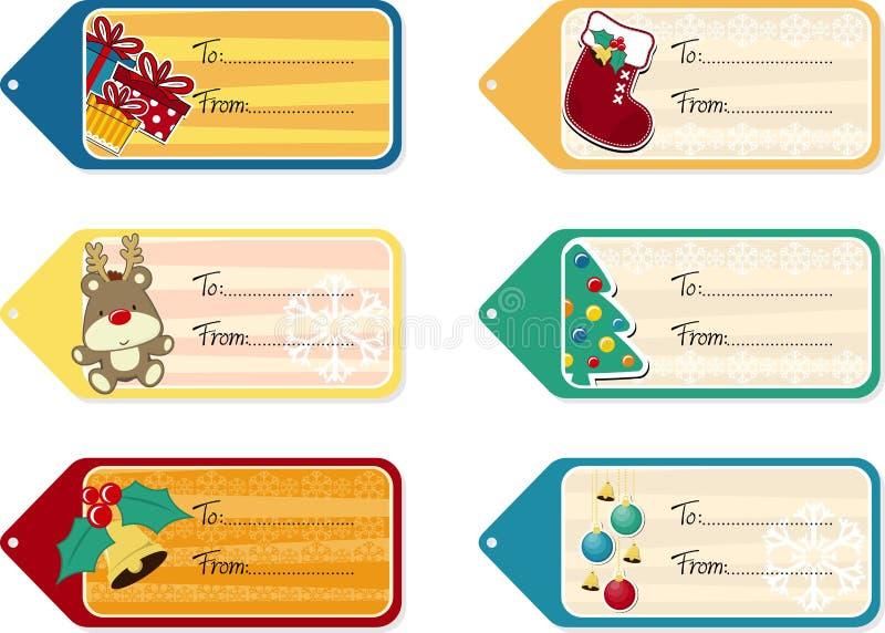 Etichette del regalo di Natale royalty illustrazione gratis