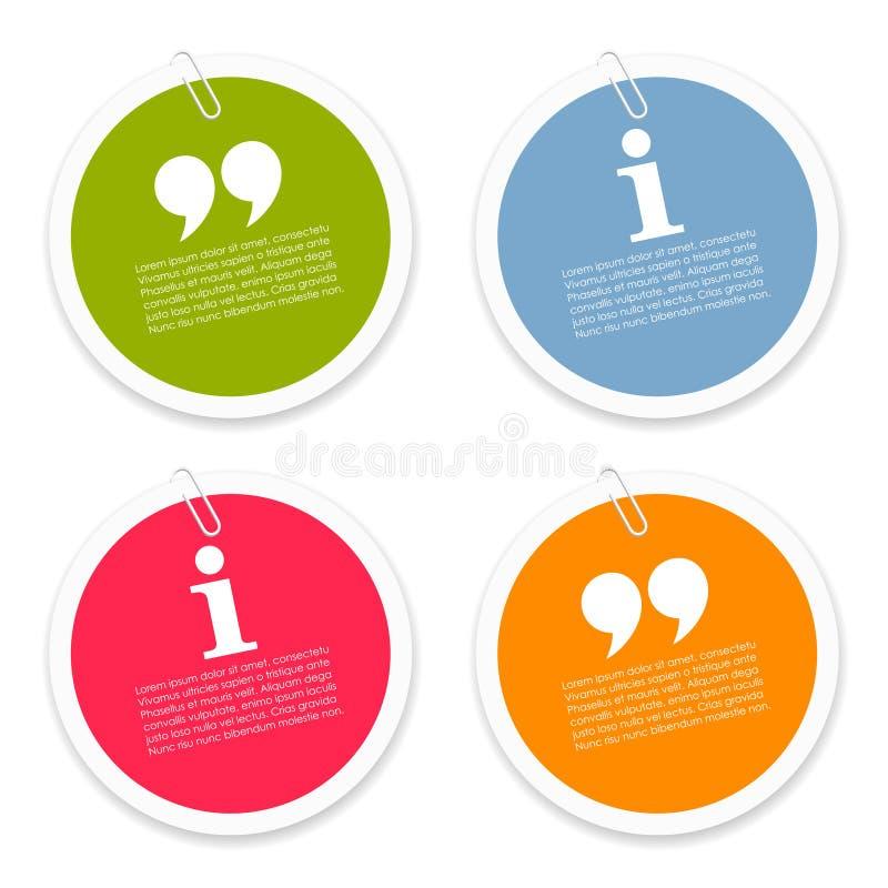 Etichette del testo di discussione illustrazione vettoriale
