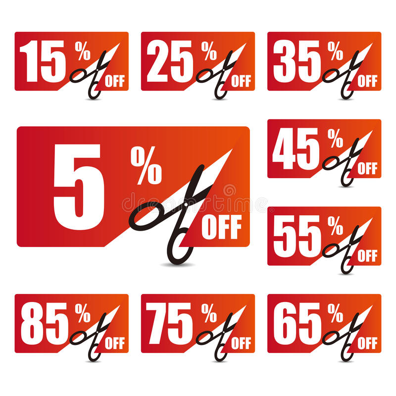 Etichette di prezzo di sconto 2 illustrazione di stock
